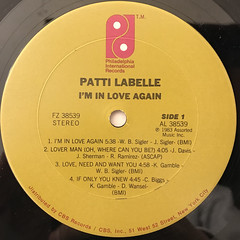 PATTI LABELLE:I'M IN LOVE AGAIN(LABEL SIDE-A)