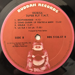 OSIBISA:SUPER FLY T.N.T.(ORIGINAL MOTION PICTURE SOUNDTRACK)(LABEL SIDE-B)