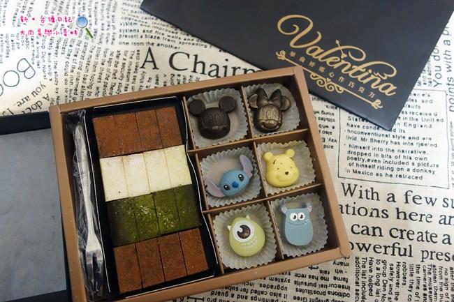 《台南》華侖婷娜巧克力~超可愛迪士尼造型巧克力/客製化手工巧克力/多口味濃郁生巧克力,情人節巧克力消費滿千再送玫瑰戒指!