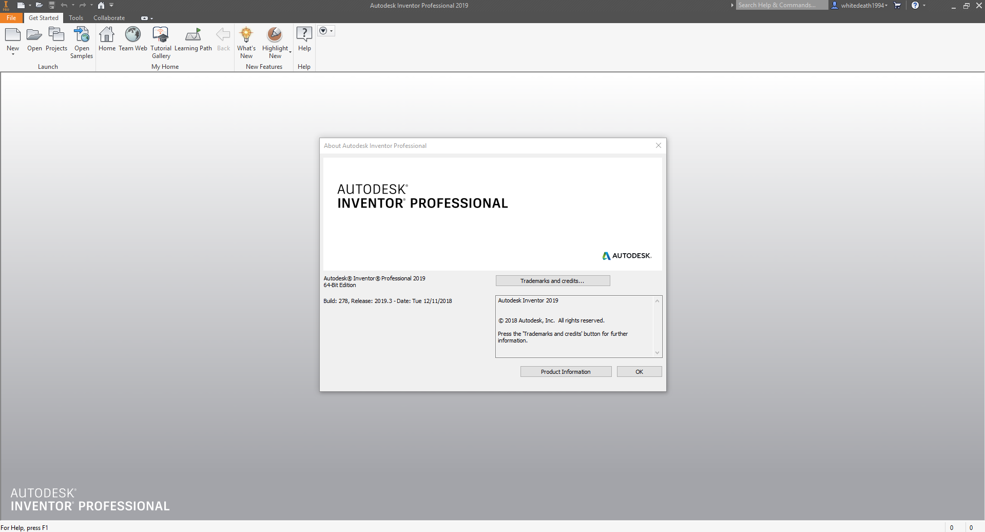 Working with Autodesk Inventor Professional 2019.3 full license
