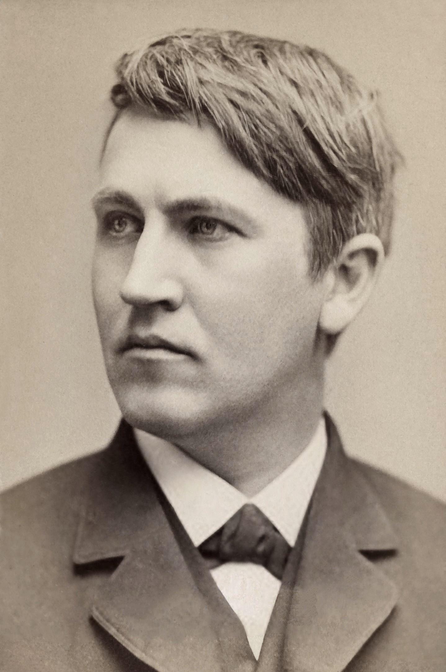 Thomas Alva Edison in 1878
