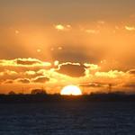 Sonnenuntergang Fehmarnsund Fehmarn - 11. Februar 2019 - Schleswig-Holstein - Deutschland