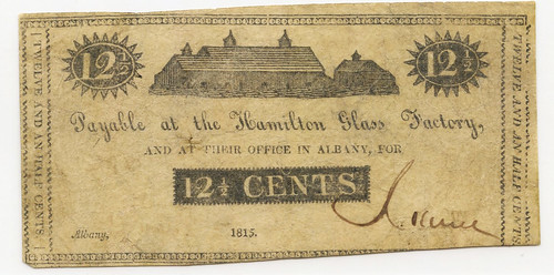 Hamilton Glass Factor 12 and a half cent note