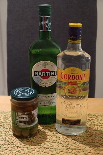 Zutaten für einen Dry Martini