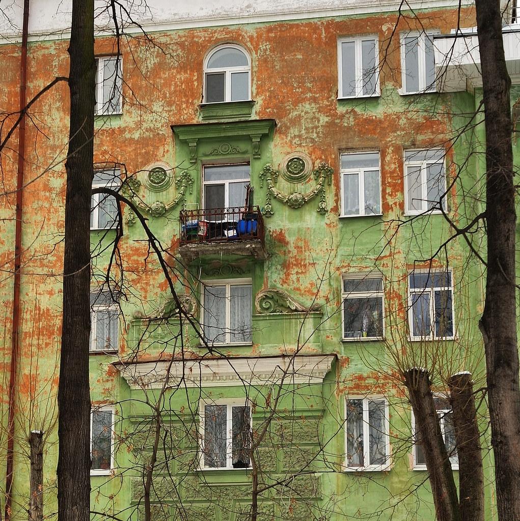 Фасад дома Балкон