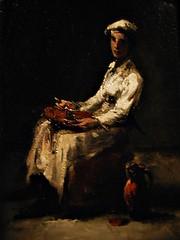 12 - Musée de Colombes - D'ombre et de lumière, Théodule Ribot - Jeune cuisinier, Vers 1888, Huile sur bois
