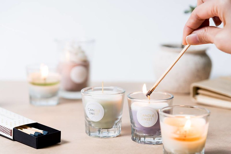 Ginger heart than natural pure essential oil x candle hand made experience  workshop