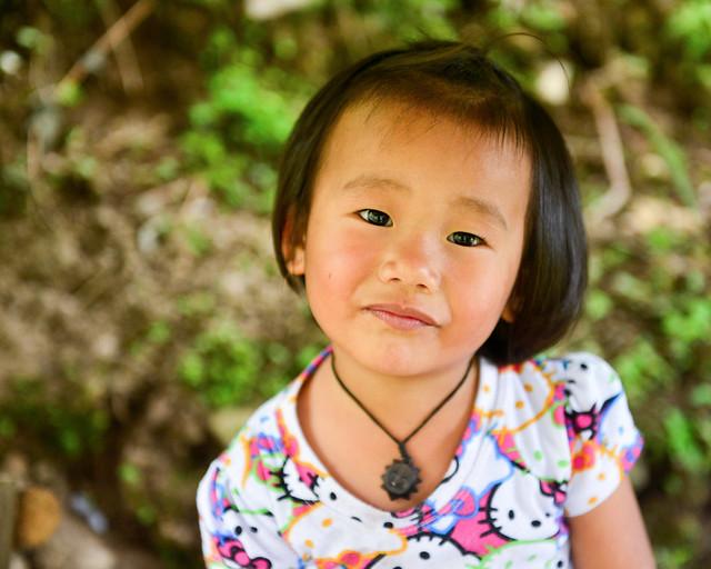 Una niña en la aldea de Batad