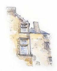 France, Mayenne, Château de Bourgon