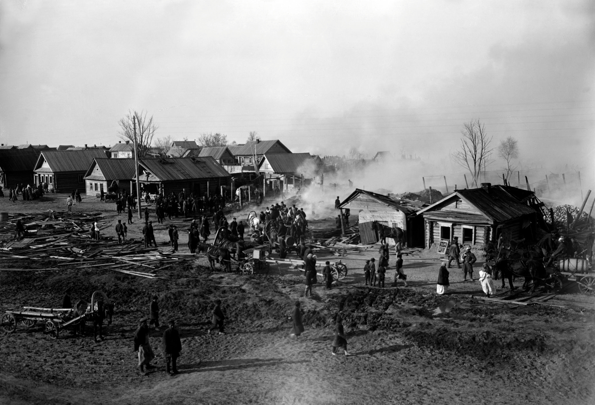 Пожар в селе Гордеевка