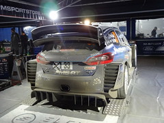 Elfyn Evens at Service on Monte-Carlo Rally
