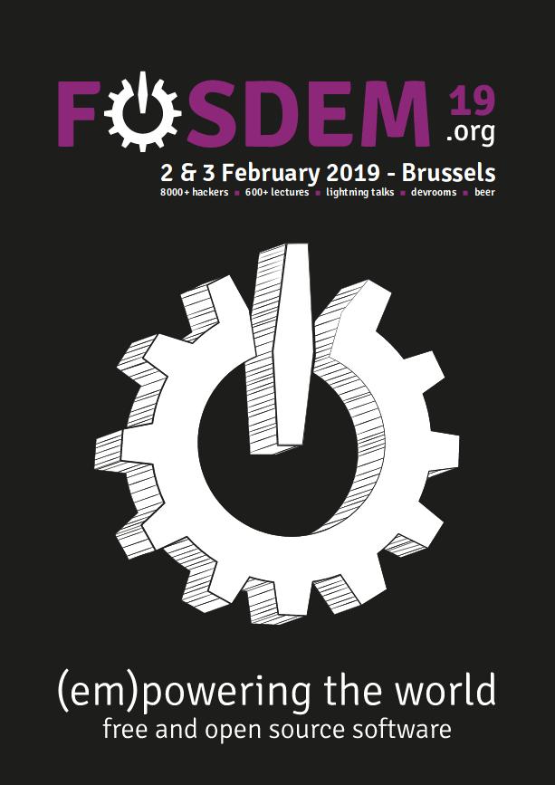 FOSDEM 2019 poster