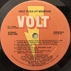INEZ FOXX:INEZ FOXX AT MEMPHIS(LABEL SIDE-A)
