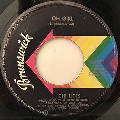 CHI LITES:OH GIRL(LABEL SIDE-A)