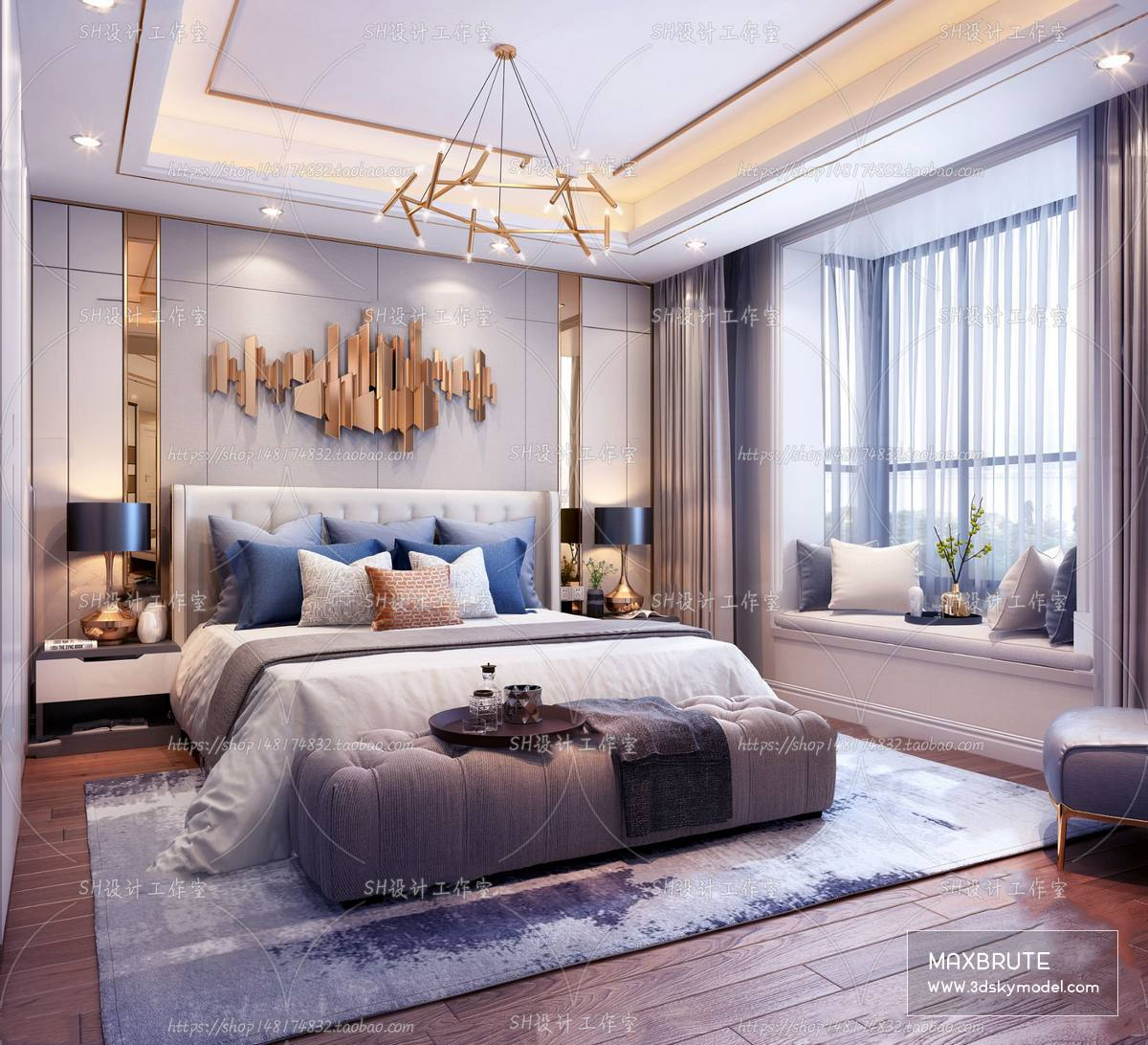 Sell Bedroom Mix Style 2019 3dsmax Maxbrute Furniture Visualization