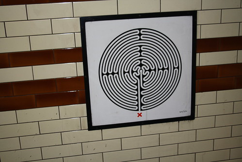 London Underground Labyrinth 207 Kentish Town close up