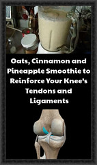 Oats, Cinnamon and Pineapple Smoothie to Reinforce Your Knee's Tendons and Ligaments