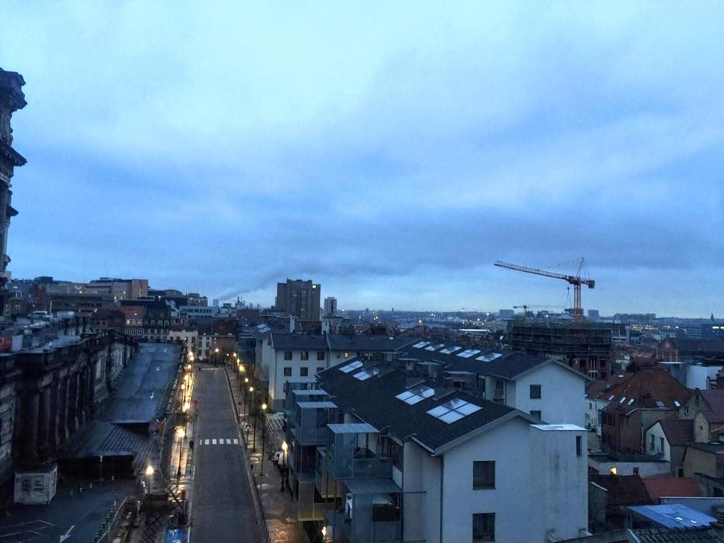 Panorámica de Bruselas desde el mirador