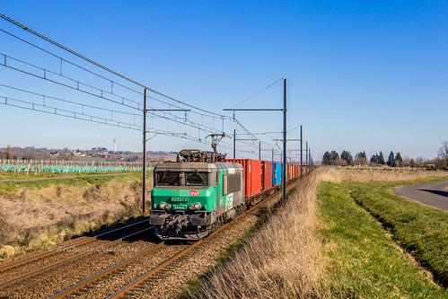 23 février 2019 BB 22275 Train 476308 Arles -> Bordeaux-Hourcade Saint-Pierre-d'Aurillac (33)
