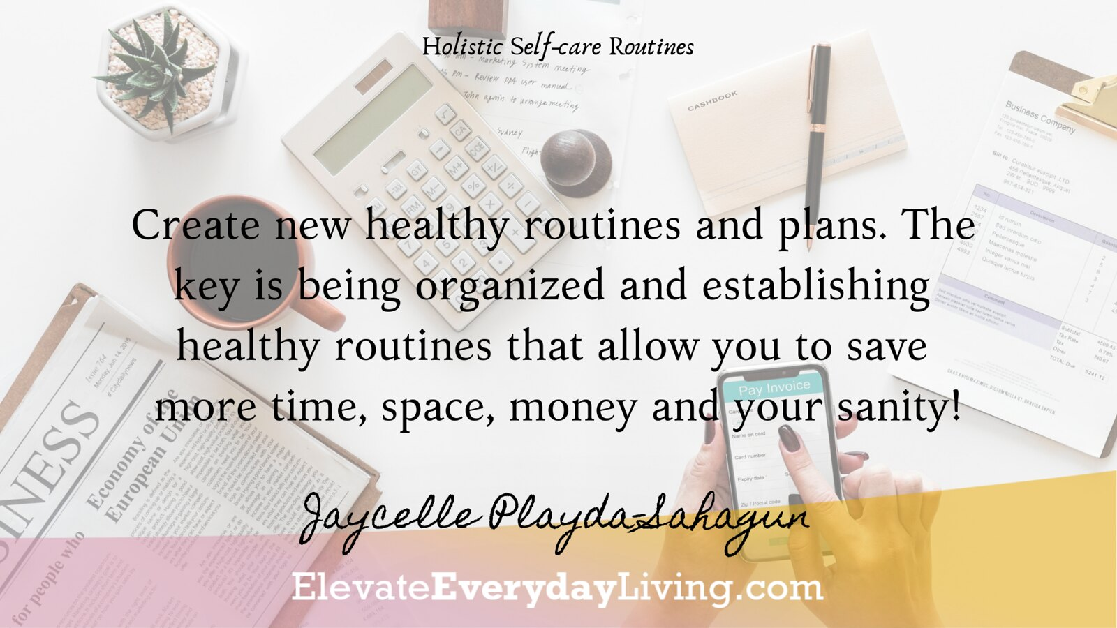 Create new healthy routines and plans