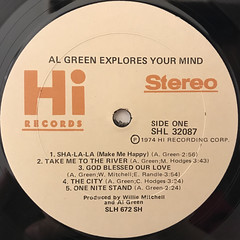 AL GREEN:EXPLORES YOUR MIND(LABEL SIDE-A)