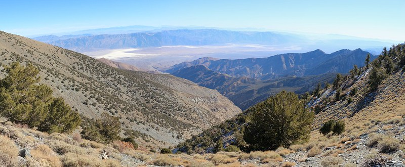 Looking east down Hanuapah Canyon from the north ridge of Bennett Peak