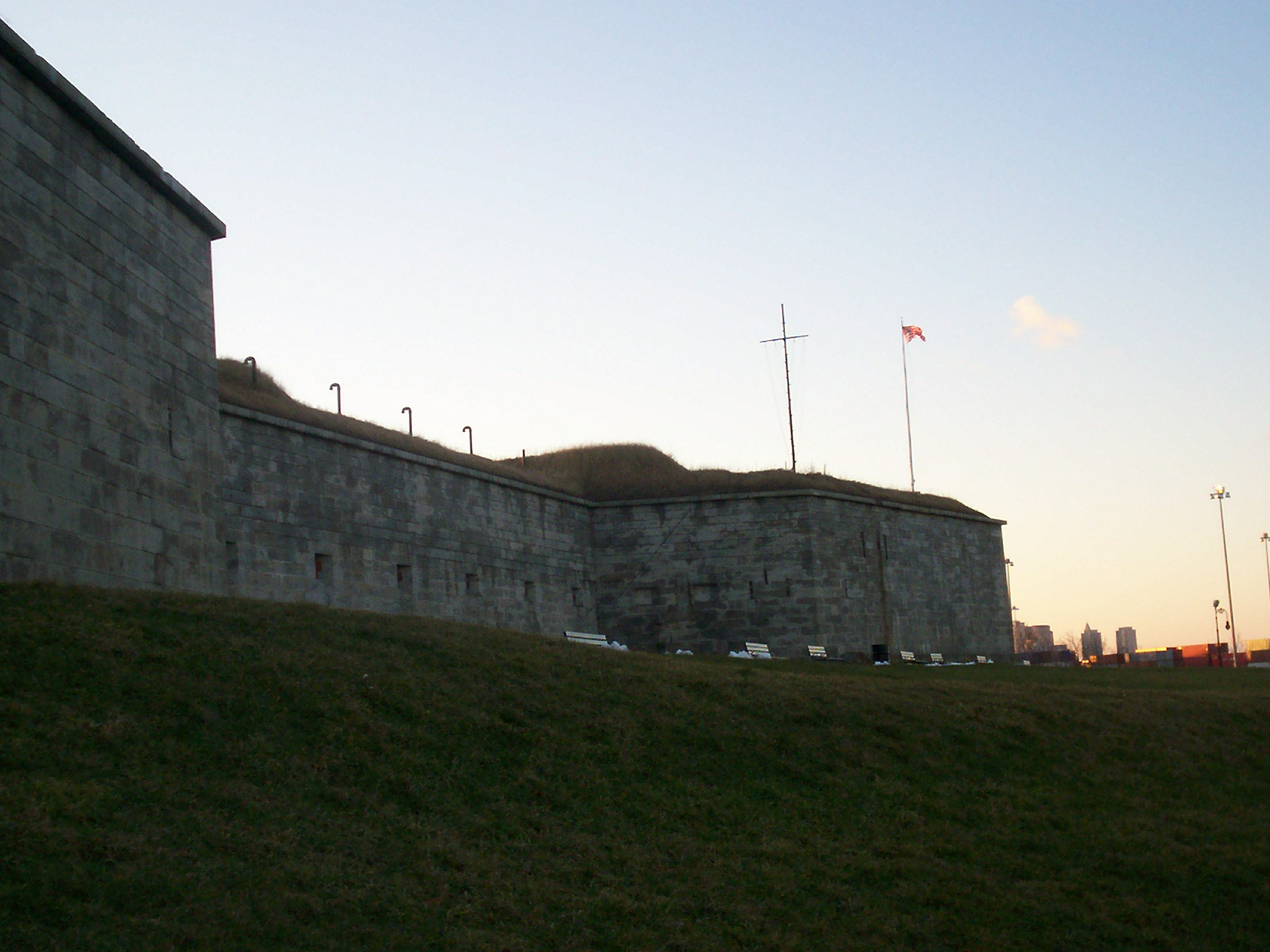 Poe was first stationed at Boston's Fort Independence while in the Army. Photo taken by <a href=