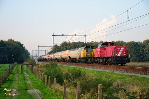 2008   Railion 6518 en 6507 te Nispen