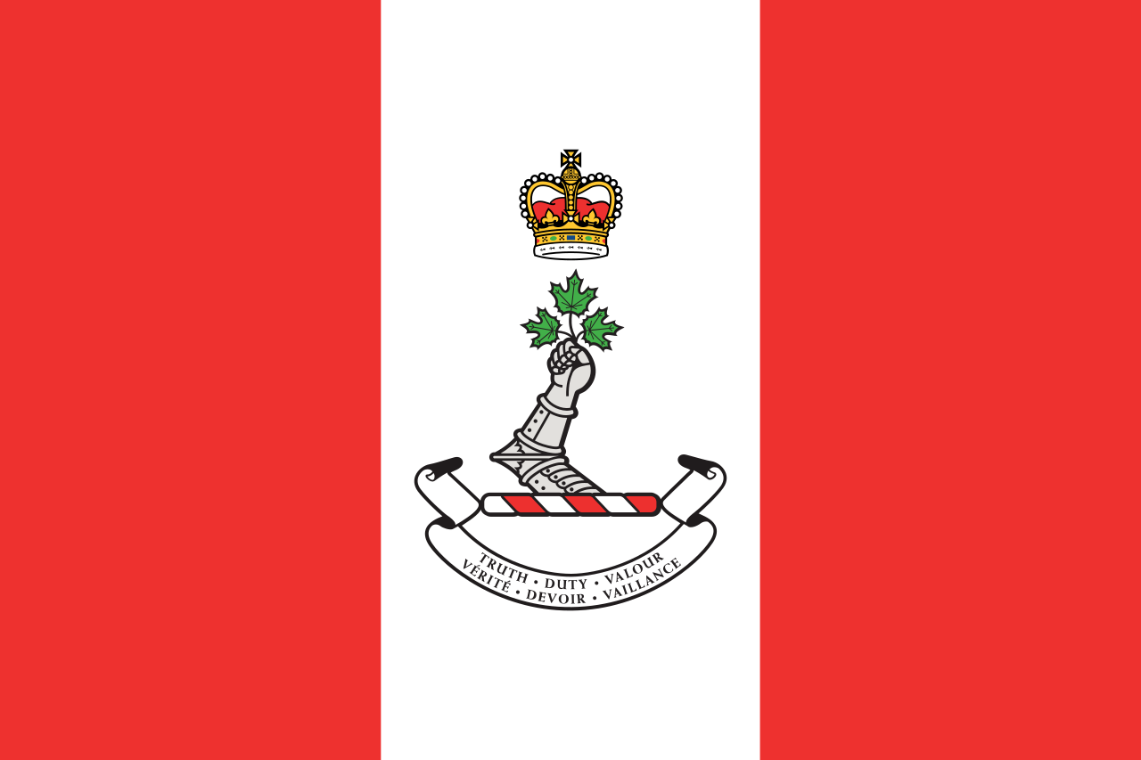 The flag of the Royal Military College of Canada RMC; which was used as inspiration to help create the current Canadian flag.