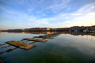 Calm at Preston Docks | by Tony Worrall