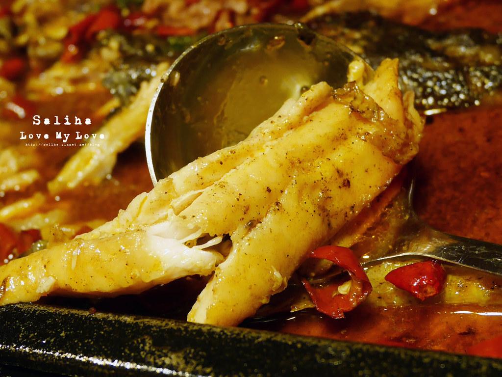 台北松山區小巨蛋站附近餐廳推薦水貨炭火烤魚麻辣火鍋涮涮鍋大份量肉盤 (10)