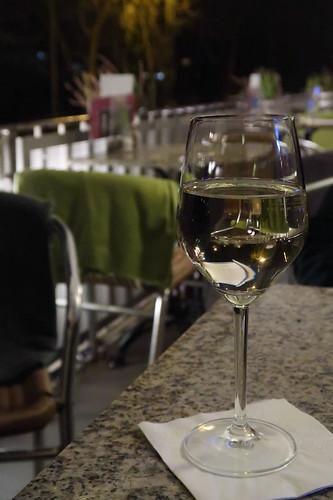 Gelber Muskateller (auf der Terrasse des Café Kowalski in Passau)