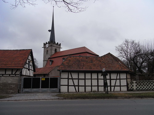20110318 0205 313 Jakobus Fachwerkhaus Kirche Turm