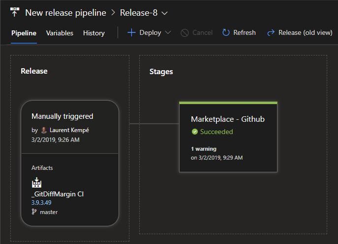 Azure DevOps Release result