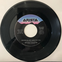 WHITNEY HOUSTON:SAVING MY ALL LOVE FOR YOU(RECORD SIDE-A)