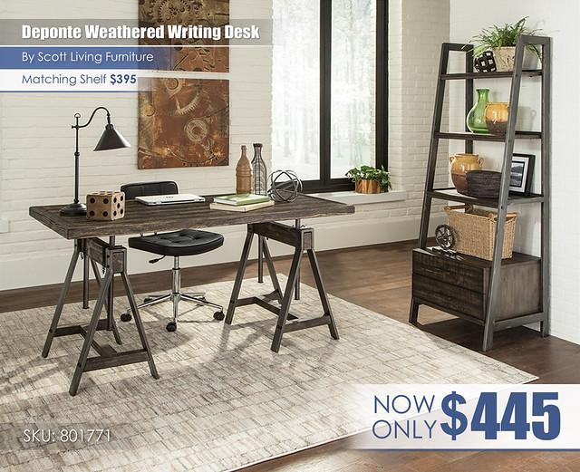 Deponte Weathered writing desk_Scott Living_801771_wShelfInImage
