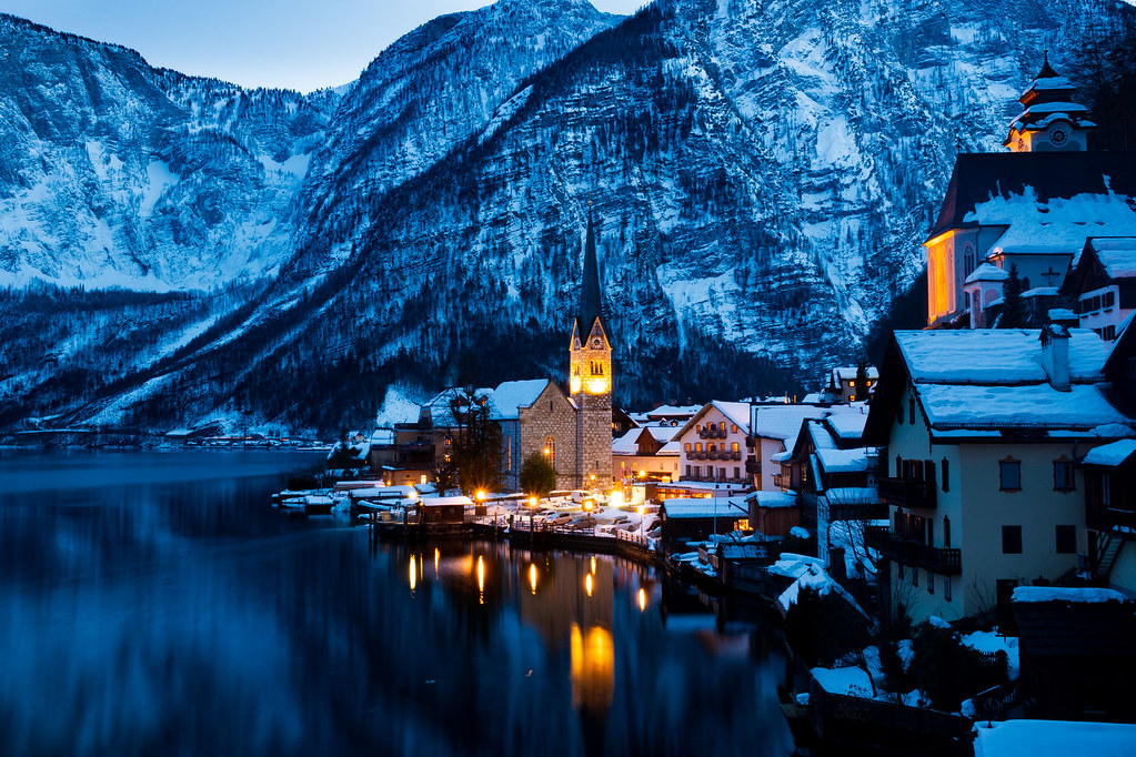 Dusk at Hallstatt
