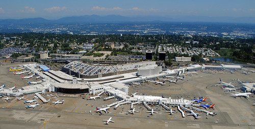 seattle tacoma seatac international airport aerial shot photos planes
