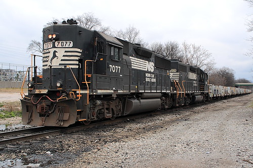 Norfolk Southern NS 7077 (GP50) Birmingham, Alabama