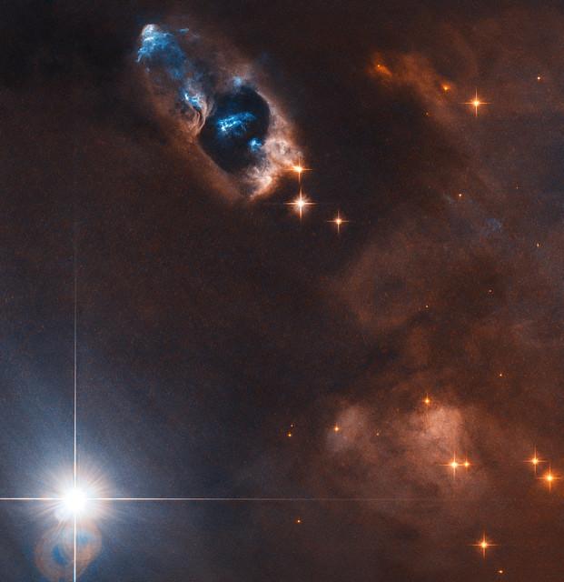 Hubble Captures Smoking Gun of a Newborn Star