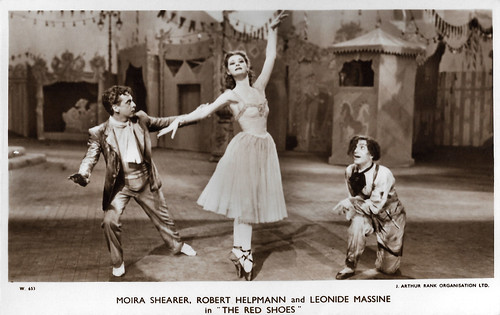 Moira Shearer, Robert Helpmann and Leonide Massine in The Red Shoes (1948)