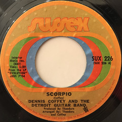 DENNIS COFFEY AND THE DETROIT GUITAR BAND:SCORPIO(LABEL SIDE-A)