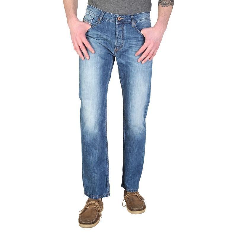 Diesel Mens Waykee 00S11C Trousers Regular Straight 0RBRT Blau Größe 28W 34L  | Vorzügliche Verarbeitung