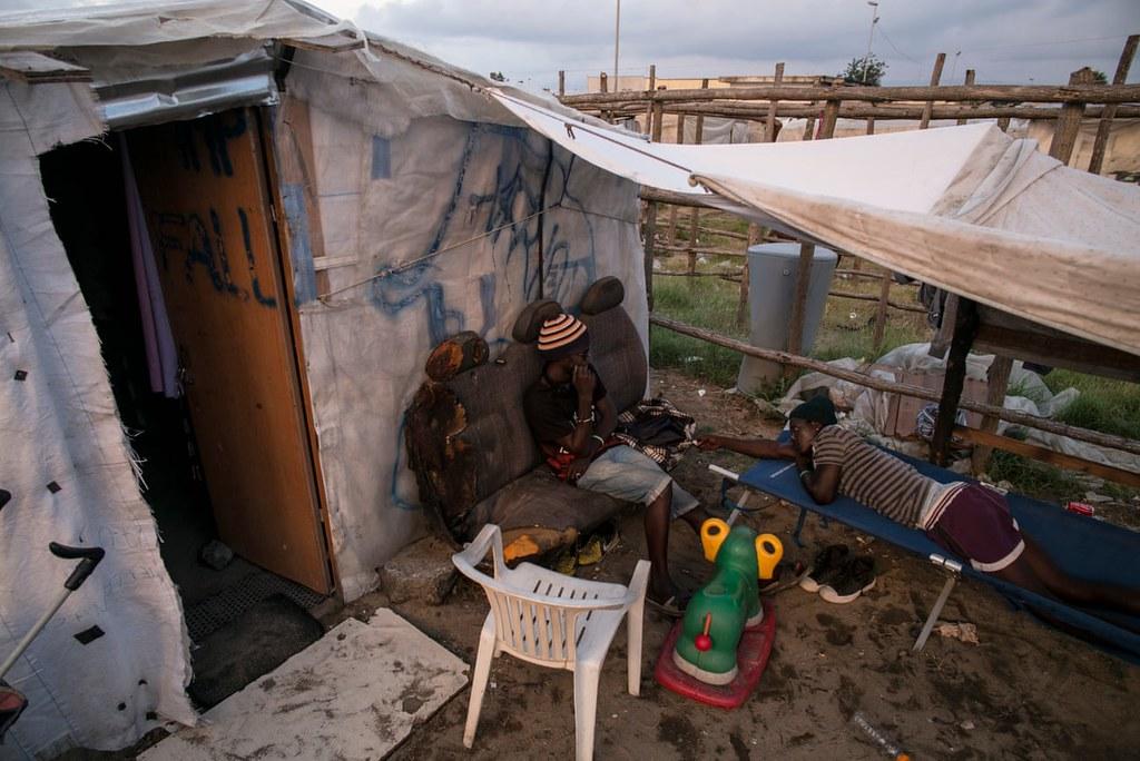 位於聖費爾迪南多鎮的棚屋。(圖片來源:Sean Smith/the Guardian)