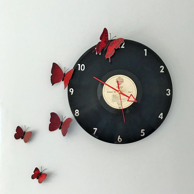 BeeGees Butterfly Clock