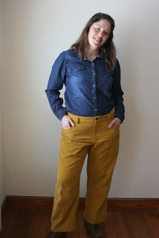 Jutland Pants for Me in Yellow Corduroy