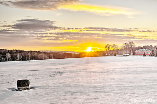 Winter sunset in Ebmath
