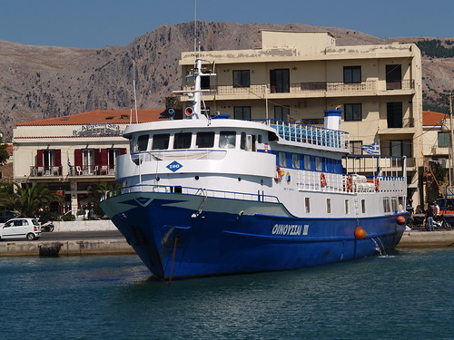 Ferry 'Oinousses III' for Inousses in Hios (Chios) harbour, Greece