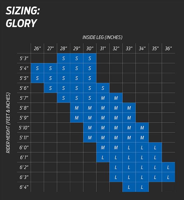 Giant Glory Size Chart