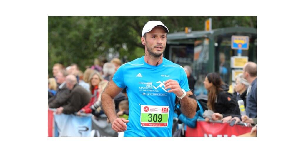 A man running a marathon